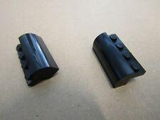 Lego System 6081 - 2 Stk. Bogenstein Brick Modified 2x4x1 schwarz  5571 10183