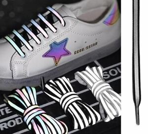 Shoe Laces Luminous Reflective (Black) Glow In The Dark Unisex