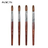 KADS Kolinsky Sable Acrylic Nail Art Brush Crimped Red Wood Handle Manicure Tool