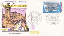 Enveloppe 1er jour FDC 1975 Exposition Arphila Architecture