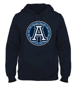Men's Toronto Argonauts Navy Primary Logo CFL Football Hooded Sweatshirt Pockets