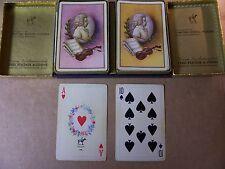 VINTAGE - PIATNIK CARDS MOZART -- 2 DECK SET -- EACH COMPLETE WITH 3 JOKERS-