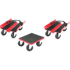 """Set-of-3 Extreme Max Snowmobile Dolly System Skates w 2.5"""" Wheels Swivel Casters"""