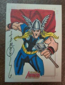 2006 Marvel Complete Avengers Sketch Card Thor Hodges Original Art SketchaFEX