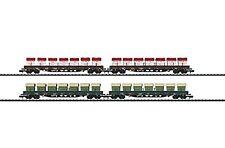 Minitrix Set vagón de bordes bajos DB-15071 NEU