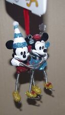 Disney Store Mickey and Minnie Skating Hanging Ornament Christmas tre decoration