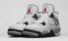 Nike Air Jordan 4 Retro OG White Cement Size 12-18 Red Black Grey 840606-192