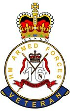 16th/5th Royal Lancers HM Armed Forces Veterans Clear Cling Sticker