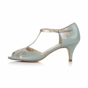 Rachel Simpson Isla Shoes Peep Toe T-strap Mint Size 38 Wedding Shoes