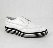 $980 Prada Men's White Patent Leather Platform Brogue Oxford UK 11/US 12 2EG015
