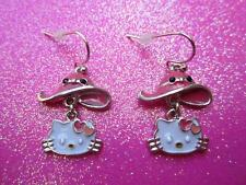 Hello Kitty Pink Hat Dangle Earrings