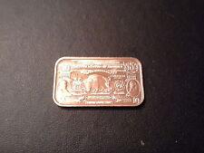 Other Bullion Coins & Paper Money Rare .999 1 Kilo Copper Bar Masonic Free Masons Bullion Beautiful In Colour