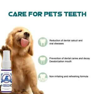 Pet Breath Freshener Spray Dog Cats Mouthwash Care Healthy Dog Mouth Cleaning