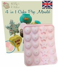 Silicone Lolly 4 in 1 cake pop mould and sticks choclate cake baking cooking