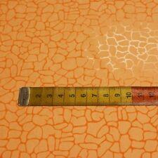 Microfaser Waschleder mit Reptilprägung (orange) Meterware