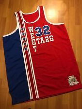 47bf6c4db21 Mitchell Ness M&N Authentic Bill Walton All Star West Jersey 56 Stitched  Rare