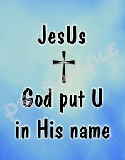 JESUS - God put U in his name - Flexible Fridge MAGNET