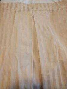 Custom made Bedskirt and Pillow Shams, Yellow/Gold tone-on-tone stripe