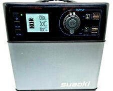 SUAOKI PS5B 400Wh Portable Power Station with DC AC USB Outputs Solar