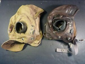 RAF FLYING HELMETS : TYPE C : ONE LEATHER; ONE CLOTH TROPICAL
