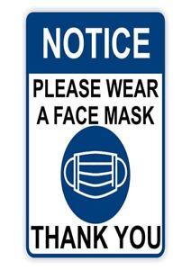 Notice Please wear Face covering Door Sign | COV19ID| Virus | Digital PDF A4 003