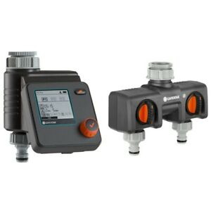 Gardena 01893-34 Bewässerungssteuerung Select u. 2-Wege-Verteiler grau/orange
