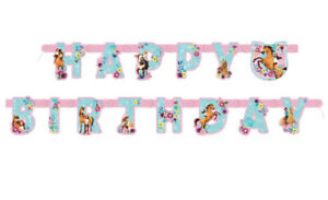 Spirit Riding Free Happy Birthday Banner ~ Hanging Decoration Party Supplies