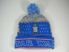 STAR WARS R2-D2 Droid - Cuff Pom Beanie R2D2 Ski Hat - Fast Free Shipping!
