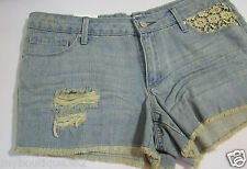 JESSICA SIMPSON DESTROYED FRAYED WITH LACE short  SIZE 32 NEW WITH TAG