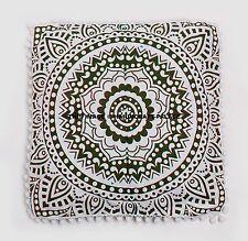 Large Mandala Floor Pillows Indian Cotton Cushion Cover Ottomans Poufs Ethnic