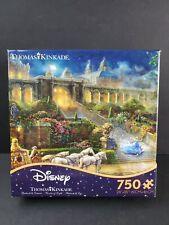 Disney Thomas Kinkade Cinderella Clock Strikes Midnight 750 Piece  Ceaco Puzzle