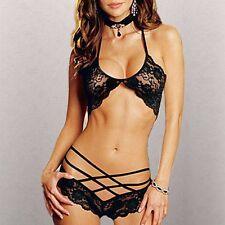 Lenceria de Spandex, lenceria sexy de mujer en negro. #267 Babydoll