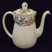 Shelley England Hedgerow #13663  Coffee / Demitasse Pot Open Sugar & Creamer