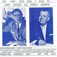 NAT KING COLE Sings 4 Songs Jimmy McHugh RARE PROMO EP RECORD #200 with PS