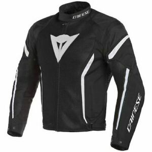 Dainese Air Crono 2 Textile Motorcycle Jacket -Black / White SALE
