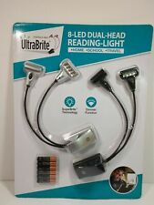 Ultrabrite 8 Led Dual Head Reading Light with Batteries (OPEN BOX)