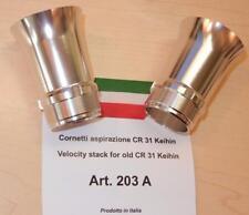 Keihin CR31mm smoothbore carburetor REPLICA velocity stack set/2 CB350 #203A