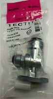 "1/2"" Push-to-Connect x 1/4"" Push-to-Connect Angle Stop Valve,Chrome-Plated Bras"