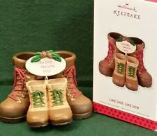 2013 Hallmark Like Dad, Like Son Work Hiking Boots Steps Keepsake Ornament Walk