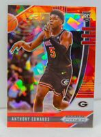 Anthony Edwards RC 2020-21 Red Cracked Ice Prizm Draft Picks Rookie Card #41 SP