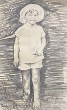 Porträ Junge Kind mit Hut Achim im Tiergarten Berlin 1939