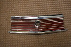 1967 Plymouth Fury Trunk Lock Finned Chrome / Painted Surround Original 2783765