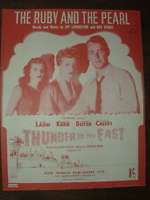 VINTAGE SHEET MUSIC - THE RUBY AND THE PEARL - FOR PIANO UKULELE & VOICE