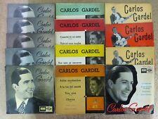 Carlos Gardel Lote 13 Discos Single.Odeon 45 R.P.M,.