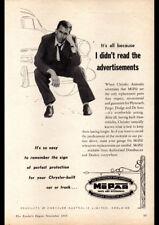 "1955 MOPAR PLYMOUTH CHRYSLER AD A4 POSTER GLOSS PRINT LAMINATED 11.7""x8.3"""