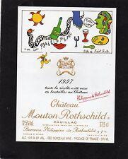 PAUILLAC 1EGCC ETIQUETTE CHATEAU MOUTON ROTHSCHILD 1997 37.5 L EXPORT §06/03/17§