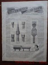1870 Manufacturer & Builder Magazine Gunpowder and Dynamite Blasting Antique