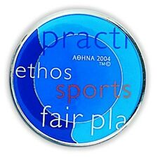 OLYMPIC VALUES #1 - OLYMPIC METALLIC MAGNET ATHENS 2004 OLYMPIC GAMES