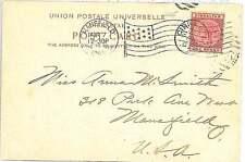GIBRALTAR -  POSTAL HISTORY:  POSTCARD to USA 1902