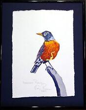American Robin: Ken Richards original framed watercolor